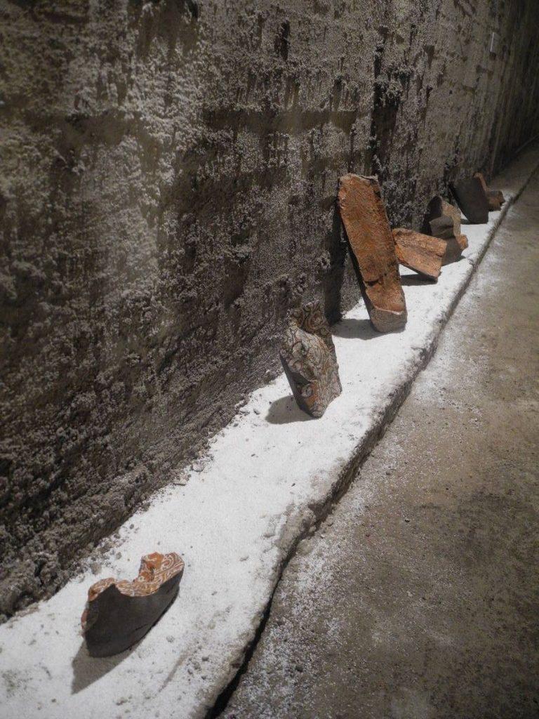 ¨Out of ruins¨ - black clay, terra sigillata, 1100 C